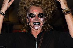 Halloween (K.Dawson) Tags: people scary outdoor outside street blood hatsbuildings witches bars dressing up c clowns masks