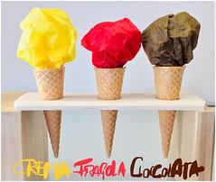 Paper Ice Cream (Renato Morselli) Tags: gelato cono paper carta tissuepaper flickrfriday icecream helado crema fragola cioccolata cream strawberry chocolate gusti papericecream