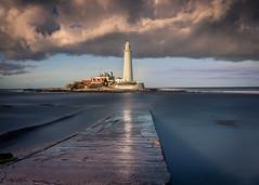 Storm over Mary (Tony Emery Fotos) Tags: st marys lighthouse whitley bay north east england sunrise sunset thomas heaton long exposure summer autmn winter cloud nikon d850 nikkor