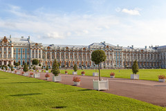 Catherine Palace (fedoseenko) Tags: санктпетербург россия красота colour природа beauty blissful loveliness beautiful saintpetersburg sunny art shine dazzling light russia day green park peace garden blue white голубой небо лазурный color sky pretty sun пейзаж landscape clouds view heaven mood summer serene golden gold gate palace дворец colours picture exhibition pavilion hall architecture building photographer фотограф catherine road tree grass nature alley history trees tsar stairway walkway