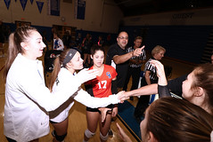 IMG_8392 (SJH Foto) Tags: girls high school volleyball garden spot palmyra regional semifinals canon 1018 f4556 stm superwide lens pregame ceremonies ref referee captains coin toss