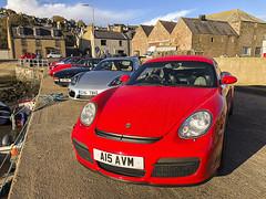 Line of Porsches (syf22) Tags: pcgb pcgbr2 pcgbscottishregion gourdon scotland porsche boxster 911 944 911c4gts motor motorcar motorised madeingermany germanmade car automobile auto autocar automotor vehicle sportcar transport cayman guardsred