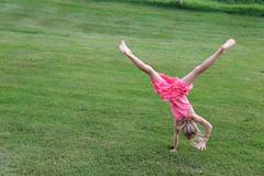 Carly Inverted (David K. Edwards) Tags: child girl tumble gymnastic dizzy pei princeedwardisland mayfield canada pinkdress carly cartwheel