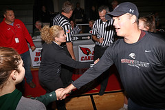 IMG_2330 (SJH Foto) Tags: girls high school volleyball emmaus garnet valley state pool play championships canon 1018 f4556 stm superwide lens pregame ceremonies ref referee captains coin toss