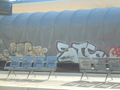 089 (en-ri) Tags: stc borow 13 2013 bianco nero giallo train torino graffiti writing treno merci freight