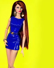 Don't Count On Me (alexbabs1) Tags: integrity toys nuface nu face fashion royalty fr doll dolls erin salston in rouges cinematic convention 2015 supermodel eugenia 2016 vintage versace vinyl dress sexy cute glam girly colorful yellow blue redhead red hair glamour iconic icon legend juicy pink lips snatched smize jason wu it girl pose model super sarah palins bangs