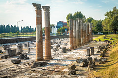 The Forum, the very heart of the political, administrative and social life of the city, was a square surrounded by public buildings. It was first built as early as in the 2nd century BC.