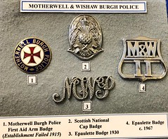 Glasgow Police Museum - Glasgow Scotland - 2/10/18 (DanoAberdeen) Tags: emblem motif button danoaberdeen burgh wishaw motherwell police museum history olddays vintage memorabilia candid amateur medals cap insignia 2018 enforcement policescotland strathclydepolice badge pin plaque sempervigilo bluelights bobbies oldbillauthority policeofficer woman man law justice barlinnie emergencyservices scottish force ranking constable chief 60s 70s 80s glasgowpolicemuseum glasgowscotland handcuff handcuffs restrained detained guilty
