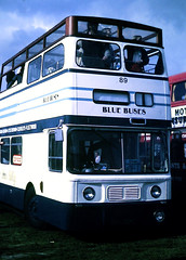 Slide 122-66 (Steve Guess) Tags: open top topper topless epsom downs racecourse surrey england gb uk bus leyland atlantean lytham stannes blackpool