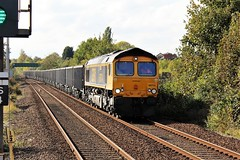 GBRF 66714 - Mansfield (the mother '66' 66001) Tags: gbrf class66 66714 mansfield robinhoodline nottinghamshire rail railways 6e89 wellingborough rylstone