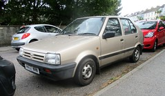 1990 Nissan Micra 1.3GS (occama) Tags: h437wmw 1990 nissan micra gs old car cornwall uk japanese bronze