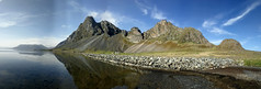 Island Ost2018_089a (schulzharri) Tags: island iceland europe europa landscape ladschaft berg mountain wasser water sky himmel meer sea panorama stitched