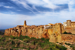 Pitigliano (phyrrula) Tags: borgo tufo toscana skyporn discoveryitaly travelpix travel clouds littlejerusalem etruscan