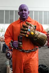 Thanos in Chains (_Codename_) Tags: edmonton alberta comicentertainment expo comicon 2018 cosplay thanos handcuffs infinitygauntlet purple orange