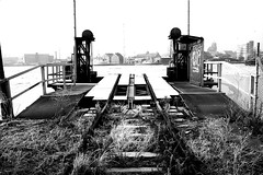 end of track (Drehscheibe) Tags: frozen nikonf2 nikkor50mm abandoned analogica 35mmfilm ilfordhp5 explore rails