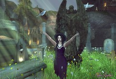 ~Lily~ ♪♫ She Talks To Angels ♫♪ (*✻ღ♪♫♥Kitten Sinclair♥♪♫ღ✻*) Tags: graveyard sl secondlife witch witchcraft wiccan wicca spells magic church cemetery catwa maitreya