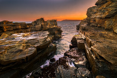 Bore Beach, San Remo, VIC (niaz.mahmood1977) Tags: landscape sea sunset rock seascape wave