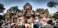 External View of the Main Area of Banteay Srei Temple, Angkor, Cambodia-26a