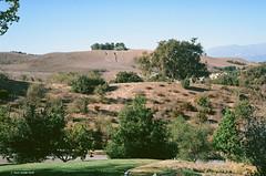 Chino Hills Scene (markjwyatt) Tags: chinohills california hills trees mountains homes oaks contaxiia sonnar50mmf2 ektar100 film