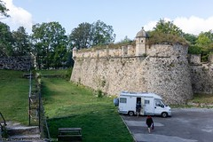 Journey from Villefranche-de-Confluent to Mount-Louis and return on the uncomfortable and not recommended Yellow Train (doublejeopardy) Tags: frencharmy fort mountlois trainjaune base yellowtrain montlouis pyrénéesorientales france fr