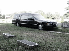 DSCF0653 (stevenbr549) Tags: 1997 ss masterpiece cadillac hearse black funeral car luthersville cemetery