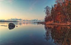 A Quiet,placid moment (BigWhitePelican) Tags: helsinki finland lauttasaari morning suomenlahti sea reflections canoneos70d adobelightroom6 niktools 2018 october