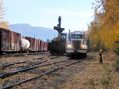 P1030077edit (arrowlakelass) Tags: hirail truck castlegar canada cpr bc railway mow maintenanceofway engineering engineeringservices rail ties railyard
