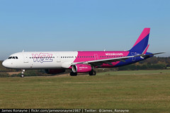 G-WUKC | Airbus A321-231 | Wizz Air UK (james.ronayne) Tags: gwukc airbus a321231 wizz air uk aeroplane airplane plane aircraft jet aviation flight flying london luton ltn eggw canon 80d 100400mm raw