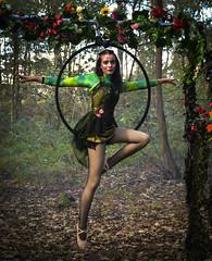 Balancing Act (littlestschnauzer) Tags: creepy carnival balancing act circus doncaster wildlife park yorkshire uk fun woods october 2018 hoop hanging