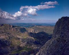 Estrela Highlands (lebre.jaime) Tags: portugal estrela highland mountain range view sky grass cloud panorama 6x6 film120 analogic mf mediumformat kodak portra160 hasselblad 503cx distagon cf4050fle epson v600 affinity