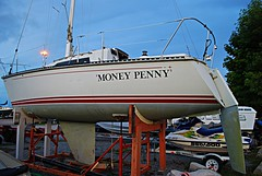 Money Penny (Pwern2) Tags: moneypenny boating lakeontario scarborough scarboroughbluffs toronto the6 6 greatlakes sailboat traveling adventure voyaging navigation leisure boat sky jamesbond secretarytom m secretary