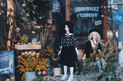 Autumn street I (AzureFantoccini) Tags: bjd abjd balljointeddoll doll diorama dollhouse dollroom miniature autumn street outdoor apples harvest zaoll dollmore luv supia jiin flowers shop