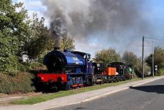 Wimblebury On The Goods. (Neil Harvey 156) Tags: steam steamloco steamengine steamrailway railway wimblebury balmroadbranch middletonrailway middleton hunslet leeds lastcoaltoleeds goodstrain tankengine saddletank hunsletausteritytankengine austeritytank
