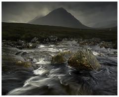 Buachaille shapes (chrismarr82) Tags: nikon glencoe scotland river mountain rain clouds highlands