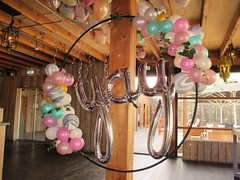 hola hoop balloons decoration