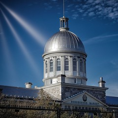 Bonsecours Market (stephaneblaisphoto) Tags: architecture belief blue building exterior built structure city day dome government nature no people outdoors place worship religion sky spire spirituality sunlight travel destinations