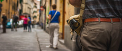 Cameraslinger (AAcerbo) Tags: florence italy europe street widescreen cinematic holster camera dof bokeh