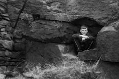 Wind Hole (PaulEBennett) Tags: pentaxk3ii boy child derbyshire coombesedge mono blackandwhite