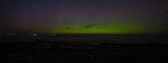 """Aurora Borealis over the """"Moray Firth"""" (Ratters1968: Thanks for the Views and Favs:)) Tags: canon dslr photography digital eos canon70d aurora borealis night nightphotography auroraborealis northernlights scotland moray morayfirth spiking dancing glow green martynwraight ratters 1968"""