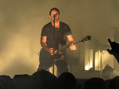Nine Inch Nails - The Anthem DC (dckellyphoto) Tags: nineinchnails trentreznor nin theanthem dc washingtondc districtofcolumbia concert show band industrial man yellow foggy guitar sing microphone