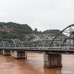 Lanzhou - bridge over Yellow River to White Pagoda thumbnail