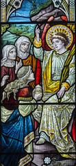 Melton Mowbray, St Mary's church, window detail (Jules & Jenny) Tags: stainedglasswindow stmaryschurch meltonmowbray