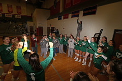 IMG_3178 (SJH Foto) Tags: girls high school volleyball bishop shanahan hempfield state pool play championships canon 1018 f4556 stm superwide lens pregame ceremonies ref referee captains coin toss huddle cheer