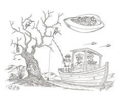 Fish Spirit (rod1691) Tags: myart art sketchbook bw scfi grey concept custom car retro space hotrod drawing pencil h2 hb original story fantasy funny tale automotive illustration greyscale moonpies sketch sexy voodoo