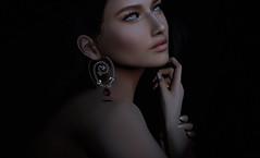 KUNGLERS - Yvonette (AvaGardner Kungler) Tags: kunglers avagardnerkungler secondlife jewelry digital 3d mesh photography photoshop earring gemstone ruby model portrait