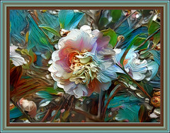 If you could say it in words there would be no reason to paint. (Edward Hopper) (boeckli) Tags: flowers flower flora fleur blumen blume blüten blossom bloom blossoms blooms bunt farbig farbenfroh colourful colorful colours colors colour outdoor newsouthwales australia textures texturen texture textur ddg deepdreamgenerator photoborder rahmen