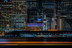 port of san francisco 200 (pbo31) Tags: sanfrancisco california nikon d810 color city urban october 2018 boury pbo31 fall night black dark treasureisland lightstream motion traffic skyline ferrybuilding neon port sign