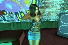 Party hardy (Jessica Jane 2017) Tags: second life sl virtual model women woman ladies lady mini skirt party rock roll music clubbing dancing