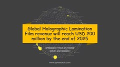 Global Holographic Lamination Film revenue will reach USD 200 million by the end of 2025 (QYResearchOfficial) Tags: holographiclaminationfilm qyresearch qyrmarketreport industryanalysis marketresearch qyr database marketreport marketresearchreport indusrtyreport wwwqyresearchcom qyrreport marketanalysis marketsurveyandresearch