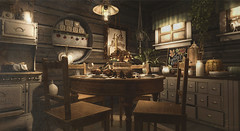Rustic Dining (Sienna Skye Foxdale) Tags: fameshed applefall ariskea hive beedesign nutmeg whatnext ultraevent pixelmode brixley dustbunny